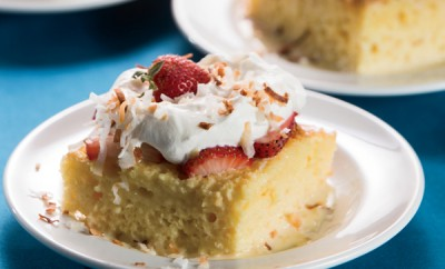 Strawberry-Coconut Tres Leche Cake
