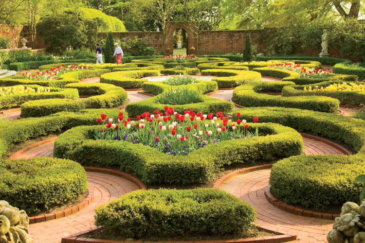 The Gardens At Tryon Palace In New Bern