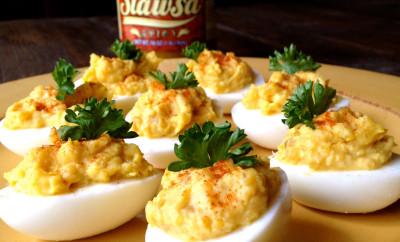 Slawsa Deviled Eggs