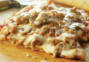 Cheesy Sausage Mushroom Pizza Recipe