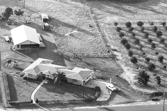 Aerial view of Halifax County farm