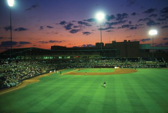 Durham Ballpark Sunset